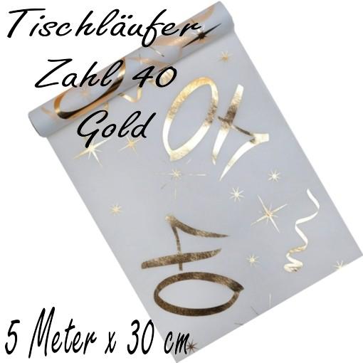 Tischdecke Zahl 40 Gold Tischdekoration Zum 40 Geburtstag