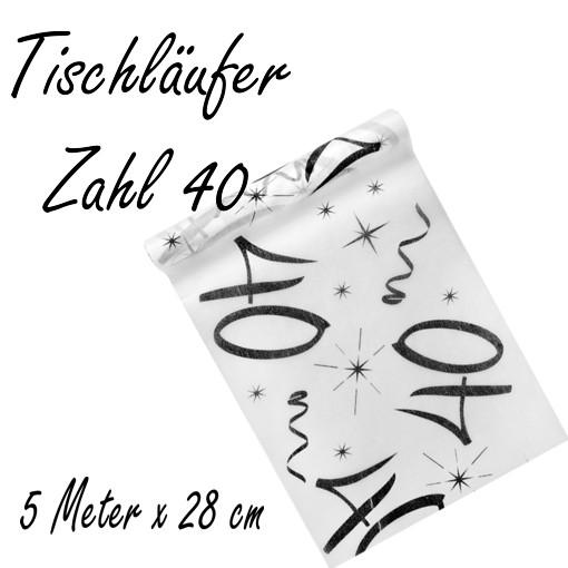 Deko Tischlaufer Tischdecke Zahl 40 Tischdekoration