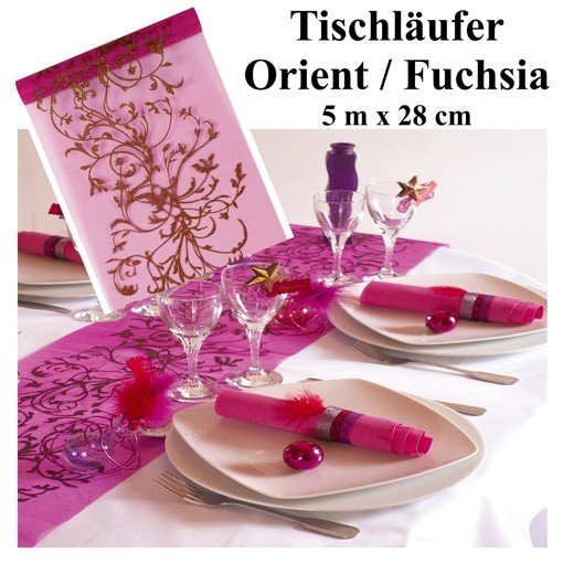 ballonsupermarkt deko tischl ufer tischdecke orient fuchsia tischl ufer. Black Bedroom Furniture Sets. Home Design Ideas