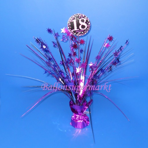 Tischstander Pink Celebration 18 Tischdekoration 18 Geburtstag