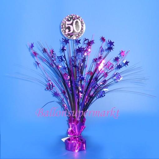 Tischstander Pink Celebration 50 Tischdekoration 50 Geburtstag