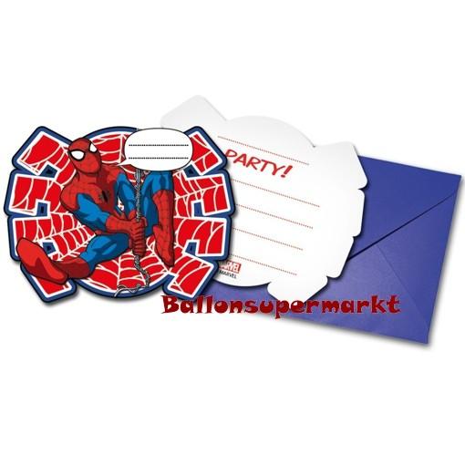 Ultimate Spider Man Einladungskarten Zum Kindergeburtstag
