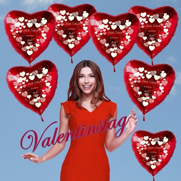Valentinstag! Entzückend mit Luftballons!