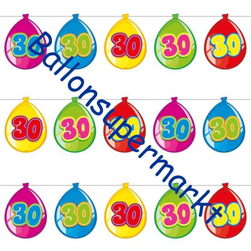 wimpelkette balloonshape 30 dekoration 30 geburtstag geburtstag 30 dekoration geburtstag. Black Bedroom Furniture Sets. Home Design Ideas