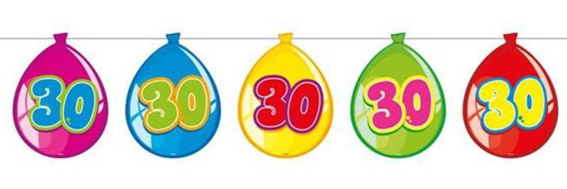 ballonsupermarkt wimpelkette balloonshape 30 dekoration 30 geburtstag wimpel. Black Bedroom Furniture Sets. Home Design Ideas