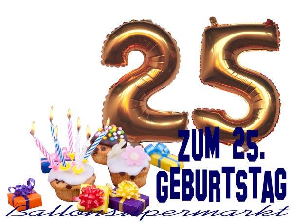 Ballonsupermarkt zahlen luftballon aus folie 2 zwei gold 40 cm luftballons - Geburtstagsbilder zum 25 ...