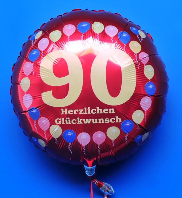 ballonsupermarkt luftballon 90 geburtstag. Black Bedroom Furniture Sets. Home Design Ideas