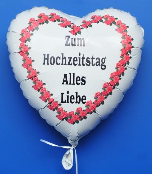 Luftballon Herz Zum Hochzeitstag Alles Liebe Folienballon