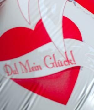 ... Zum Valentinstag Luftballon Mit Helium Du Mein Glueck ...