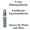 Ballongas Helium 5 Liter Flasche