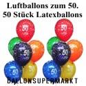 """Luftballons, Latexballons 50 Stück  """"50"""""""