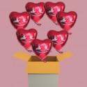 Alles Gute zur Hochzeit, 7 Luftballons aus Folie mit Helium, Hochzeitsglückwünsche