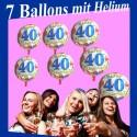 Geburtstag 40 Glückwünsche Überraschung, 7 Geburtstagsballons