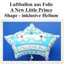 Großer Luftballon zu Geburt und Taufe eines Jungen, A New Little Prince, Ballon mit Ballongas Helium