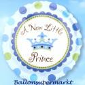 Luftballon zu Geburt und Taufe eines Jungen, a new little Prince, Ballon mit Ballongas Helium