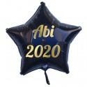 Abi 2020, Luftballon mit Helium-Ballongas, Sternballon, schwarz