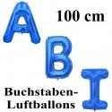 Abi, große Buchstaben-Luftballon aus Folie ohne Helium, Blau, zur Abiturfeier