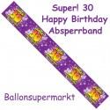 30. Geburtstag Absperrband