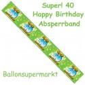 40. Geburtstag Absperrband