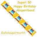 50. Geburtstag Absperrband