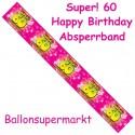 60. Geburtstag Absperrband