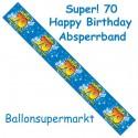 70. Geburtstag Absperrband