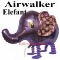 Elefant, Airwalker Luftballon aus Folie mit Helium