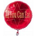 All You Can Eat, Stern-Luftballon mit Helium-Ballongas, Ballongrüße