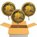 Alles Liebe zur Kommunion, 3 Stück goldene Luftballons aus Folie mit Helium