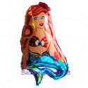 Luftballon Meerjungfrau, Folienballon mit Ballongas