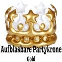 Aufblasbare Partykrone, Gold zu Hen Party, Junggesellinnenabschied