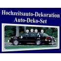 CarKit - Deko, Autodekoration Hochzeit, 22-teiliges Set für das Hochzeitsauto