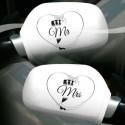 Autospiegel-Überzieher Mr & Mrs, zur Hochzeit, 2 Stück