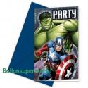 Avengers, Einladungskarten zum Kindergeburtstag, 6 Stück
