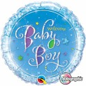 Luftballon zu Geburt, Taufe, Babyparty, Welcome Baby Boy