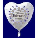 Babyparty Herzluftballon aus Folie, Boy-Junge, inklusive Ballongas Helium