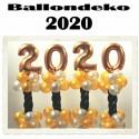 Dekoration Silvester, 2020, 4 Stück Ballondekorationen zur Silvesterparty