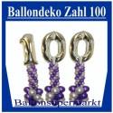 Geburtstagsdekoration aus Luftballons zum 100. Geburtstag (Inklusive Helium)