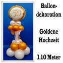 Goldene Hochzeit Dekoration, Ballondekoration 1, Goldene 50