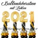 """Ballondekoration Silvester """"2021"""""""
