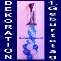 1. Geburtstag, Geburtstagsdekoration aus Luftballons (Inklusive Helium)
