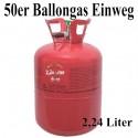 Ballongas-Einweg-Behälter /50er