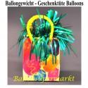 Ballongewicht, Halter für Luftballons mit Helium, Geschenktüte, Luftballons