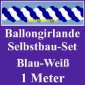Ballongirlande Blau-Weiß, 1 Meter, Selbstbau-Set mit Dekoscheiben