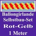 Ballongirlande Rot-Gelb, 1 Meter, Selbstbau-Set mit Dekoscheiben