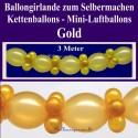 Goldene Hochzeit Dekoration, Ballongirlande zum Selbermachen, Ballondekoration in Gold
