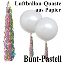 Ballonquaste Pastellfarben Bunt aus Papier