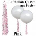 Ballonquaste Pink aus Papier