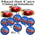Ballons Helium Set Cars Kindergeburtstag