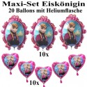 Ballons Helium Maxi Set Eiskönigin Kindergeburtstag